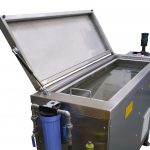 ultrasonic cleaning tank opened