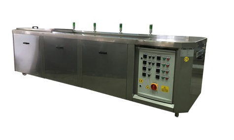 multistage ultrasonic cleaning high throughput