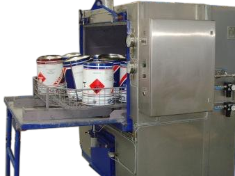 spray washer for machine parts and components