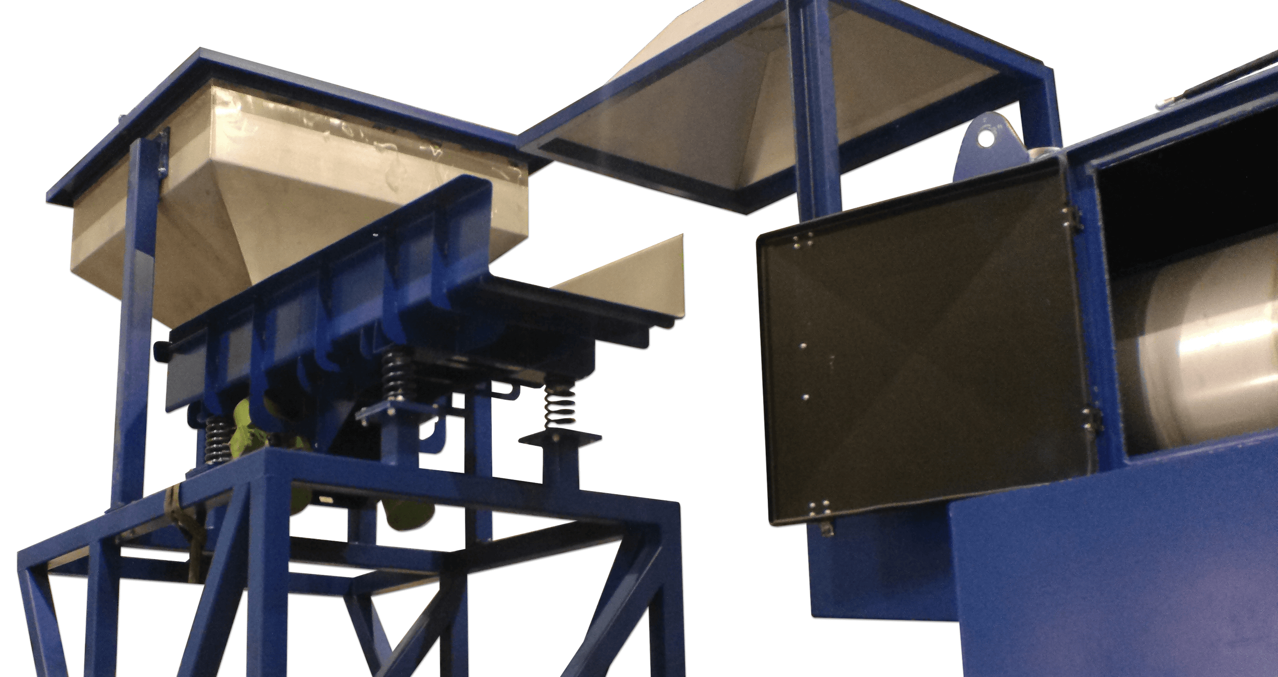 vibro conveyor in swarf degreasing line